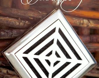 Essential Oil Diffuser Necklace - Triple Diamond - F7