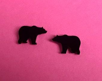 Little Grizzly Bear Stud Earrings