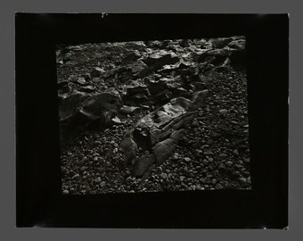 1980s B&W Photograph Vintage Rocks Photo 11 x 14 Professional Photography Wall Art