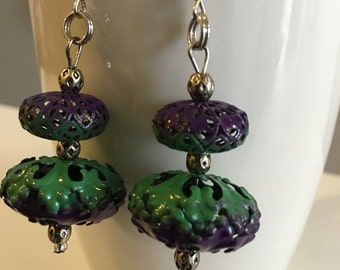Purple and Green Filigree