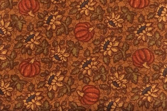 1 Yard Thimbleberries - Pumpkin Floral Print - Quilt Club ... : thimbleberries quilt club - Adamdwight.com