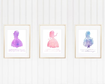 Sofia the First Watercolor 8x10 Print Set of 3 Collection