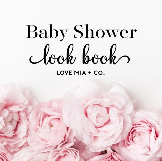 BABY SHOWER Look Book   Love Mia + Co. Hair Tie Favor Card Charts for Baby Showers and Birthday Parties