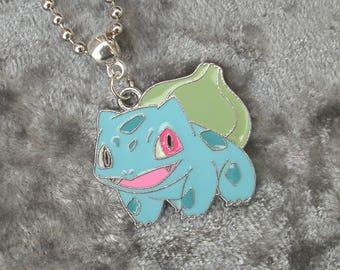Pokemon Bulbasaur Pendant on Ball Chain Necklace