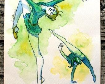 DANCER and BALLERINA WATERCOLORS