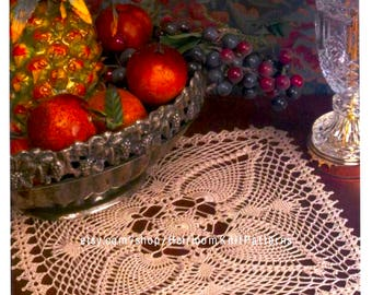 Crochet Pineapple Doily Pattern PDF 14'' Square Doily Table Center Row by Row Crochet PDF Home Decor Doily Pattern Instant Download - 2161
