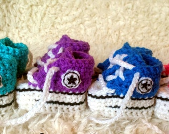 PATTERN ONLY  Crochet Baby Converse Pattern