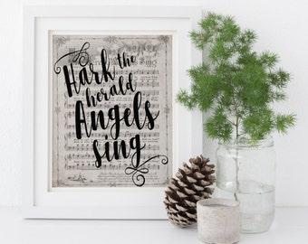 Hark the Herald Angels Sing Christmas Art