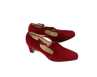 MYRYS Carmine Suede Leather High Heel Pointed Toe Shoes Made in Italy Size 41/7/9.5