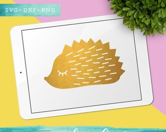 Cute Hedgehog Svg / Woodland SVG, DXF PNG for Cricut Silhouette / Woodland Clipart / Commercial Use ok