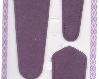 Scissors sheaths -VALUE PACK-4 sizes/pk- Designer Covers w/ScissorGripper Sewing Quilting. Dark purple micro suede. S-46. Free Shipping.