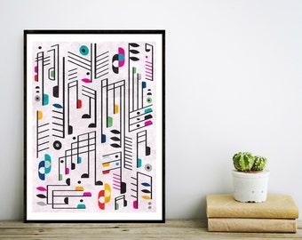 Music Print, Home Decor, Musical Notes Print, Wall Art, Inspirational Print, Music Poster, Motivational Art