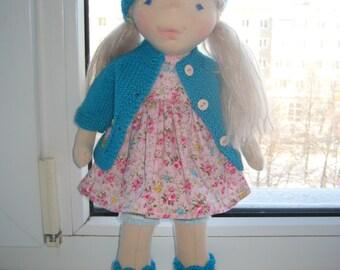 """Waldorf doll 15"""", waldorf fabric doll, steiner doll, cloth doll, gift for girl, organic doll, waldorf toy"""