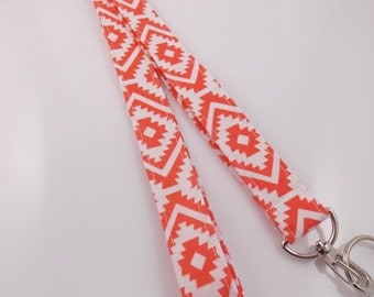 CLEARANCE Lanyard Aztec Lanyard Tribal Lanyard Teacher Lanyard  Key Holder  Nurse Lanyard Work Lanyard Fabric Lanyard Tribal Necklace