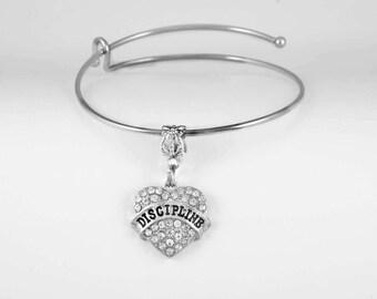 Discipline Jewelry  Discipline Gift Dicipline Bracelet Strict Military 50 Shades Key Chain  Key Chain European Style Bangle Bracelet