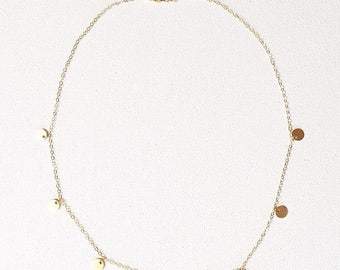 The Jess Necklace, coin necklace