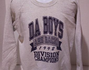 1992 NFL Dallas Cowboys Da BOYS NFC East Divisional Champs Crewneck Sweater