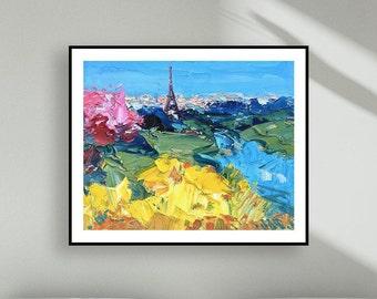 Paris Print Paris Art Print Eiffel Tower Prints Paris Skyline Wall Art Prints French Art Prints Paris Canvas Prints Gifts for Women Men Gift