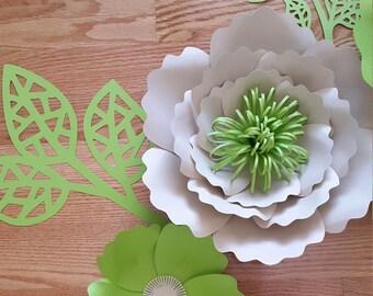 Paper flower wall decor - Custom order reserved for
