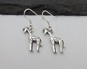 Giraffe Earrings, Charm Earrings, Giraffe Gifts, Animal Earrings, Giraffe Jewellery, Animal Jewelry, Giraffe Jewelry, Giraffe Gift, Animals
