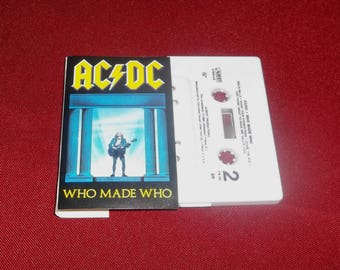 ACDC  Who Made Who Cassette Tape  Classic Heavy Metal Angus Young, Bon Scott, Maximum Overdrive Stephen King Movie Soundtrack