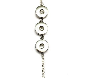 Adjustable bracelet, interchangeable bracelet, snap jewelry bracelet, button bracelet, button bracelet, charm bracelet, interchangeable