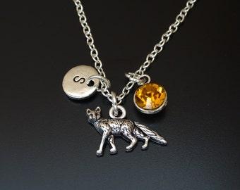 Fox Necklace, Fox Charm, Fox Pendant, Fox Jewelry, Fox Gift, Fox Girl, Wood Animal Necklace, Woodland Necklace, Animal Jewelry, Fox Lover