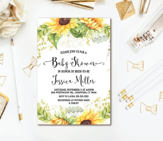 Sunflower baby shower invitation country rustic baby shower il570xn filmwisefo