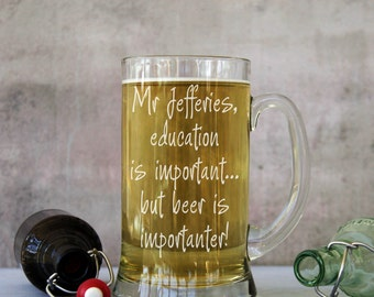 Personalised Teachers 2 Pint Stein Tankard