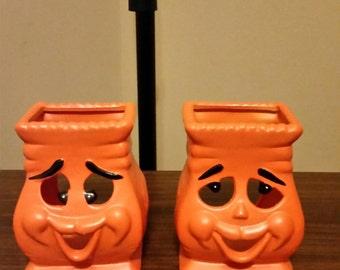 Ceramic Jack O Laterns Halloween Jack o Laterns, Happy Pumpkins, Orange Bags, Luminary Ceramic Jack O Laterns