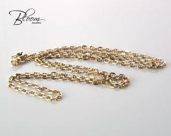 Solid Gold Chain 14K Gold Chain Anchor Chain Necklace Gold Anchor Necklace Solid Gold Anchor Gold Chain Necklace