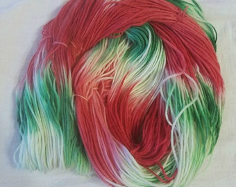 Merry Christmas - Hand-Dyed / Hand-Painted Yarn - Superwash Merino Wool - Dyed To Order