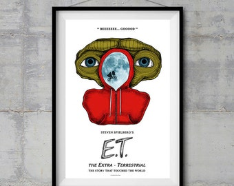 E.T. Alternative Movie Poster - Original Illustration