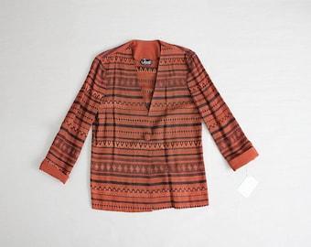 ethnic blazer | 90s blazer | slouchy blazer