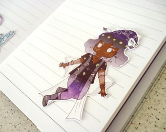 Space alien uchuu kei witch sticker ∙ Cute planner stickers ∙ Japanese fashion sticker set