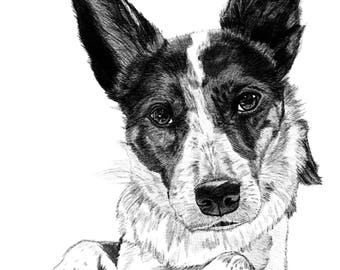 Gift Certificate, Custom Portrait, Custom pet portrait, Last minute gift, mothers day gift, Gift Idea, Unique gift for pets, Gift for dogs