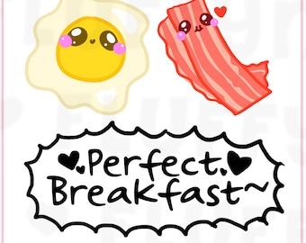 Bacon & Eggs || Planner Stickers, Cute Stickers for Erin Condren (ECLP), Filofax, Kikki K, Etc. || DPS04