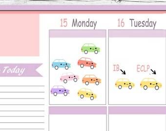 Kawaii IB or ECLP Car Car Payment  Car Loan Reminder Stickers Kawaii Erin Condren planner, Midori Calendar Kikkik Kate Spade