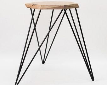 Custom Handmade Geometric Side Table