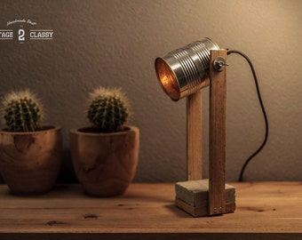 Can lamp, Tin Can Lamp, Can Light, Desk Lamp, Tin Can Lamp
