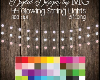 String Lights Clipart - Lights Clip Art - Clipart - Digital Clip Art - FREE Small Commercial Use! - Digital Download - Instant Download