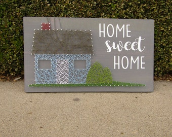 Home Sweet Home With House String Art *Made-to-Order*