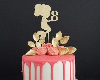 Any Age Mermaid Cake Topper, Mermaid Age Cake Topper, Under the Sea Cake Topper, Little Mermaid Party, Mermaid Topper