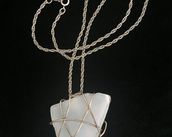Wire Wrapped Glass Pendants