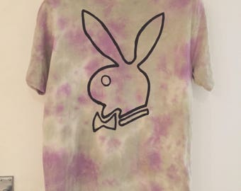 Playboy Bunny DIY Grunge Tie Dye Shirt - MEDIUM