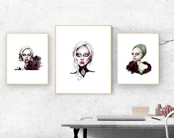 Three different Lady Gaga digital portraits plus 2 secret files in high resolution. Ready to be printed 21 x 29,7 cm. American Horror Story