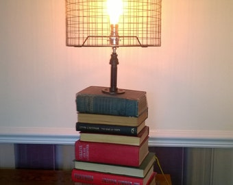 Book stack lamp