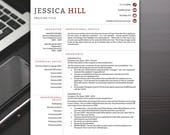 Modern Resume Template - Professional Resume Template, Resume Templates Word, Simple Resume Template - RESUME TEMPLATE iNSTANT dOWNLOAD