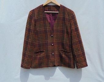 Vintage Ladies, Debenhams Autumn Colours Coat,Size UK 14, Made in United Kingdom.
