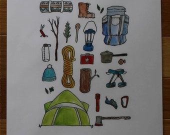The Climber Print